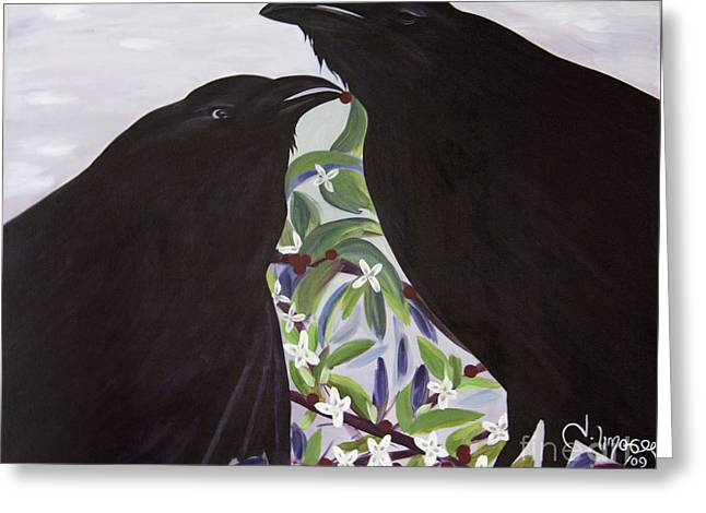 Ravens Song Greeting Card