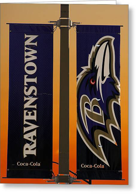 Ravenstown Greeting Card by David Simons