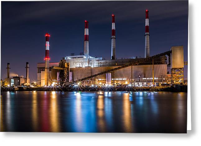 Ravenswood Generating Station Greeting Card by Mihai Andritoiu