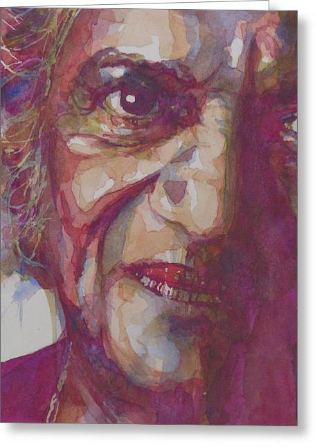 Ravi Shankar Greeting Card by Paul Lovering