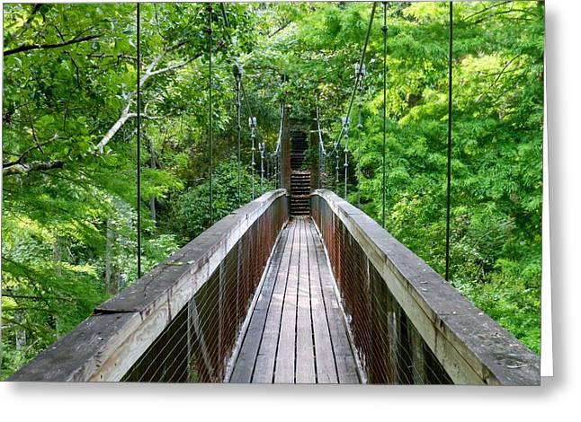 Ravine Bridge 3 Greeting Card by Kay Gilley