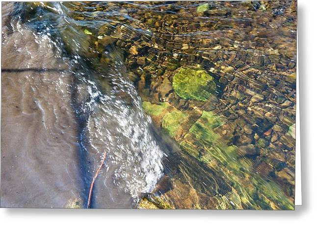 Raw Sewage Mixing With Clean Water Greeting Card