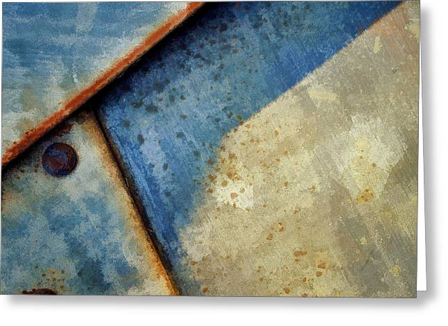 Raw Steel...blue Greeting Card