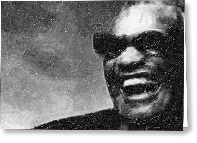 Ray Charles And That Smile Greeting Card by Tilly Williams