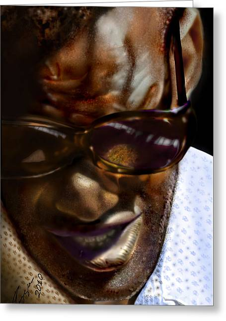 Ray Charles-beyond Sight 2 Greeting Card by Reggie Duffie