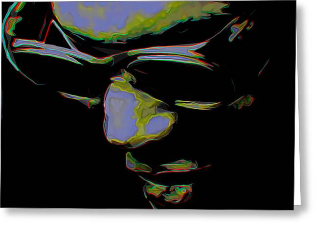 Ray Charles Greeting Card by  Fli Art