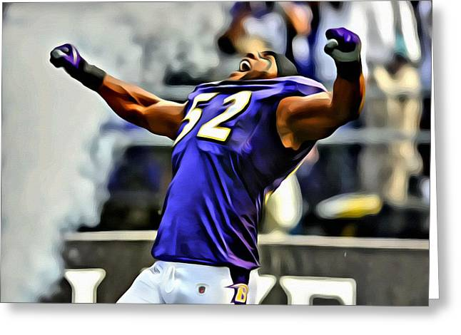 Ray Lewis Winning Poster Greeting Card by Florian Rodarte