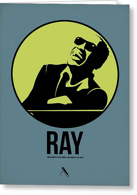 Ray Poster 2 Greeting Card by Naxart Studio