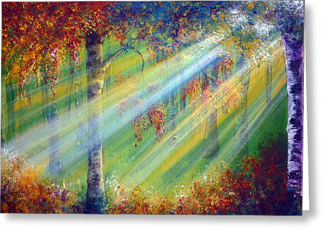 Rays Greeting Card by Ann Marie Bone