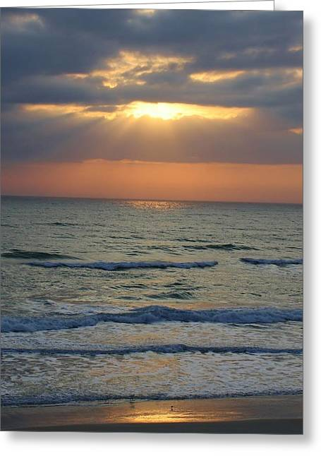 Rays From Above Greeting Card by Bruce Bley