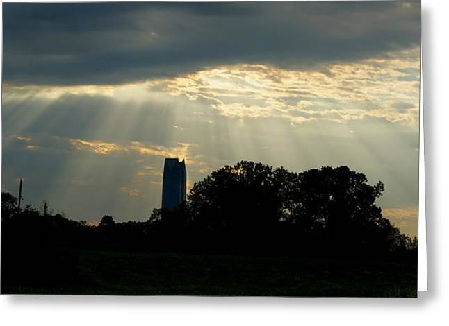 Rays Of Hope In Oklahoma Greeting Card