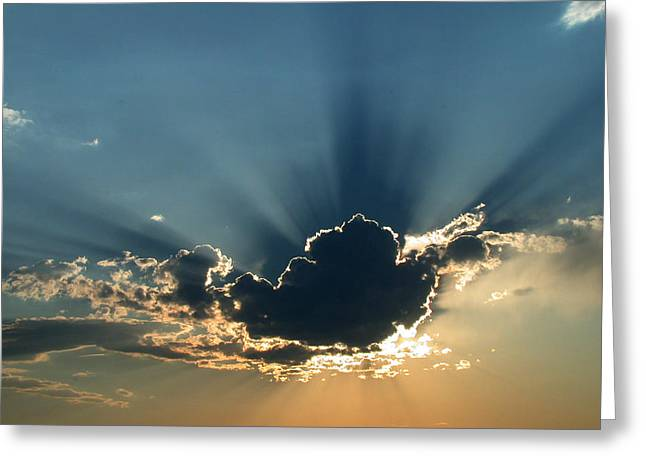 Rays Of Light Greeting Card