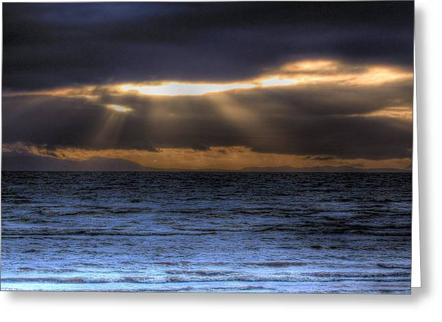 Rays Of Light  Greeting Card by Naman Imagery