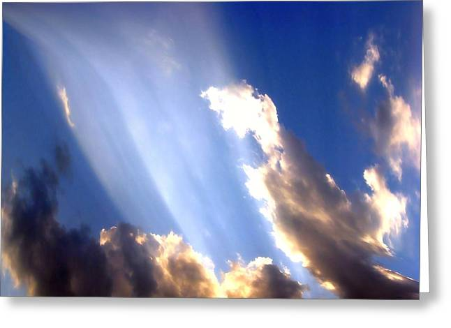Rays Of Light Greeting Card by Jose Lopez