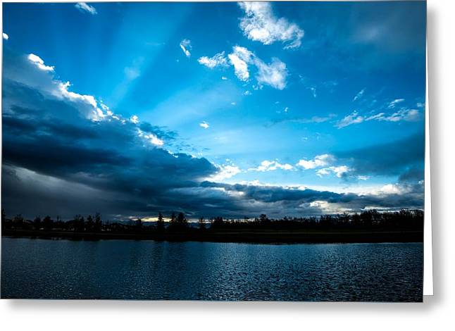 Rays Of Sunshine After The Storm Greeting Card by Onyonet  Photo Studios