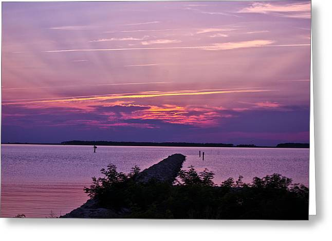 Greeting Card featuring the photograph Rays To Heaven by Kelly Reber