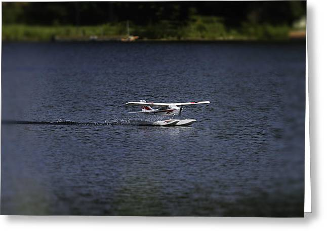 Rc Float Plane 1 Greeting Card by Thomas Young