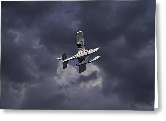 Rc Float Plane 2 Greeting Card by Thomas Young