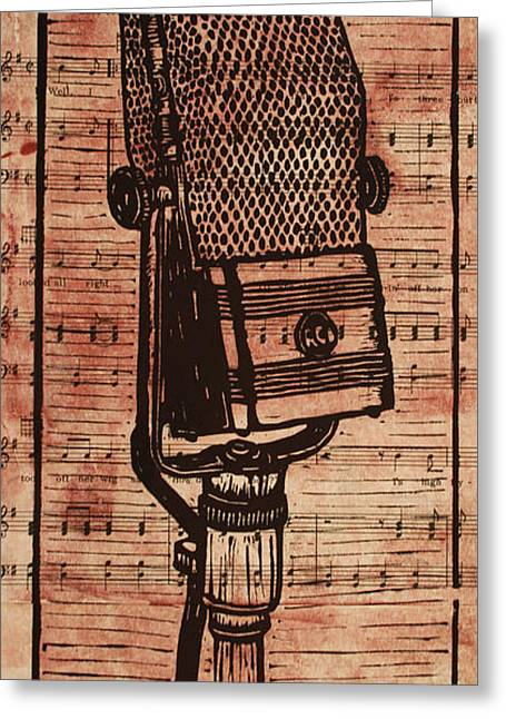 Rca 44 On Music Greeting Card by William Cauthern