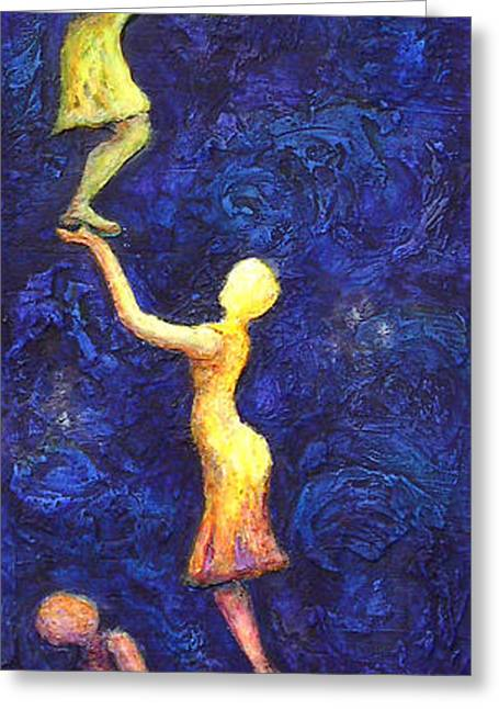 Reach For The Stars Greeting Card by Linda Carmel