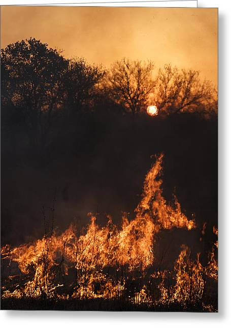 Greeting Card featuring the photograph Reaching Flames by Scott Bean