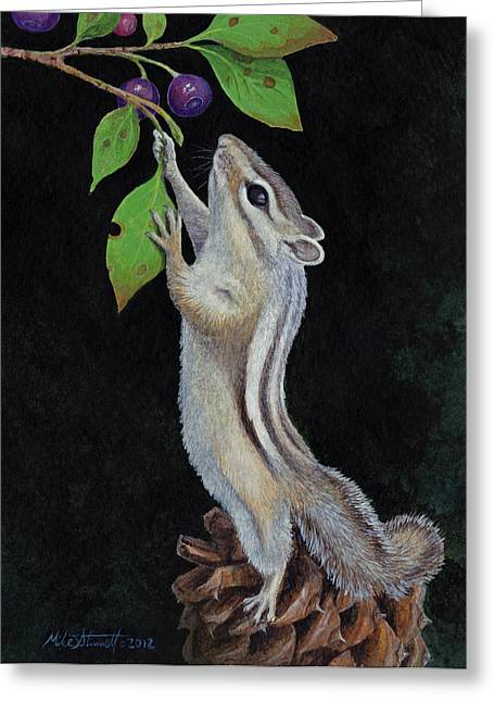 Reaching Greeting Card by Mike Stinnett