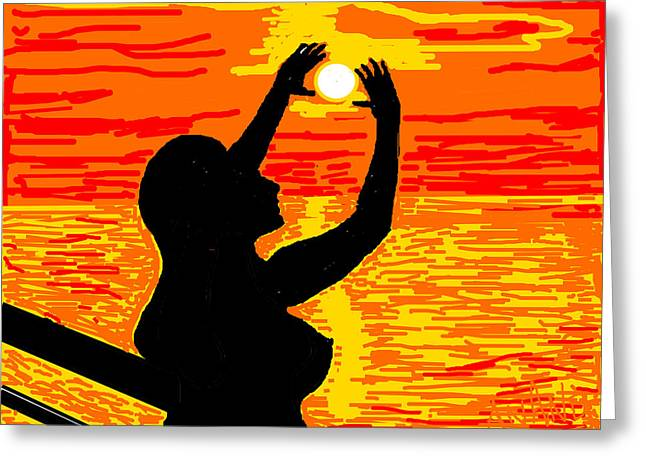 Reaching To The Sun Greeting Card by Anand Swaroop Manchiraju