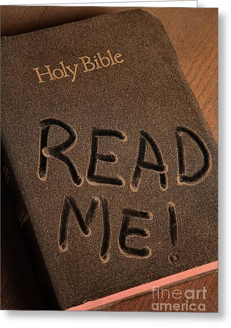 Read Me Bible Greeting Card