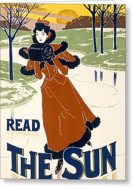 Read The Sun Greeting Card