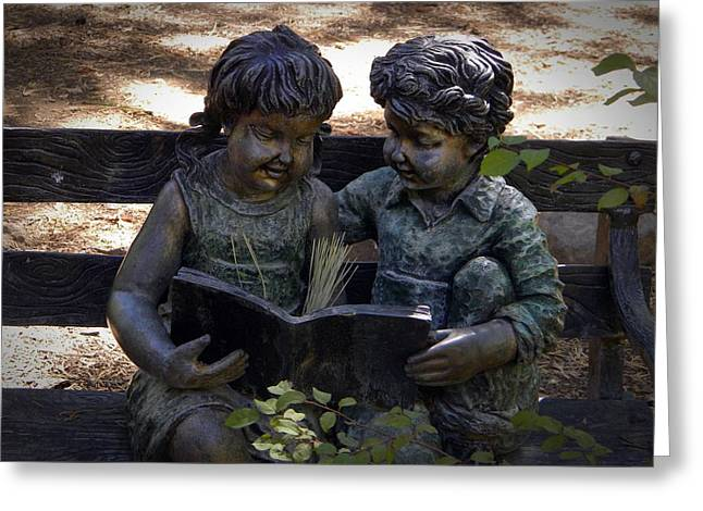 Read With Me Greeting Card by Frank Wilson
