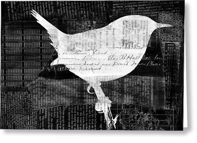 Reader Bird Greeting Card by Georgia Fowler