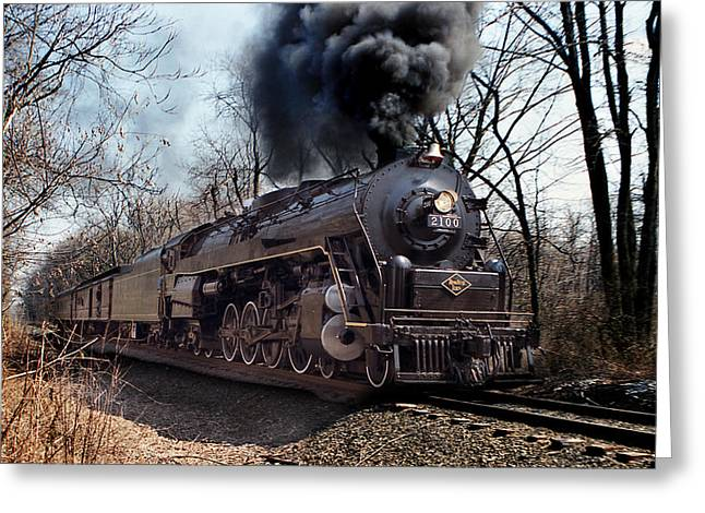 Greeting Card featuring the photograph Reading Line 2100 by Judi Quelland