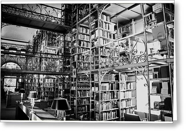 Reading Room At Cornell University Greeting Card by Georgia Fowler