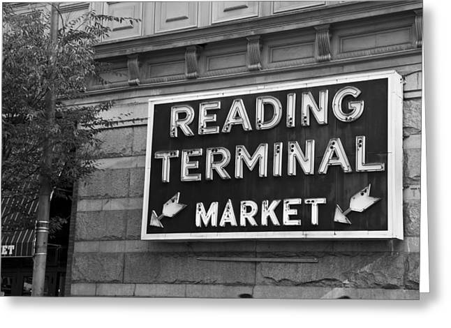 Greeting Card featuring the photograph Reading Terminal Market by Jennifer Ancker