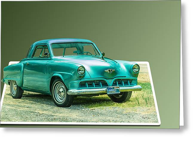 Classic - Car - Studebaker - Ready For A Spin? Greeting Card by Barry Jones