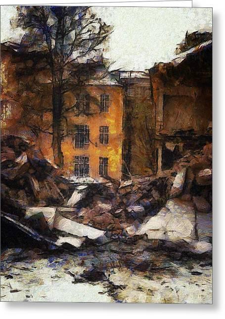 Ready For Demolition Greeting Card by Gun Legler