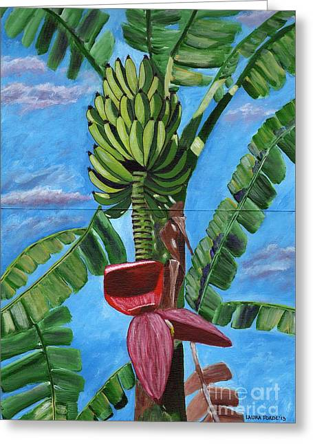 Greeting Card featuring the painting Ready For Harvest by Laura Forde