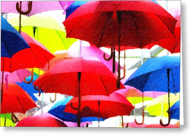 Ready For Rain Greeting Card by Lynne Jenkins