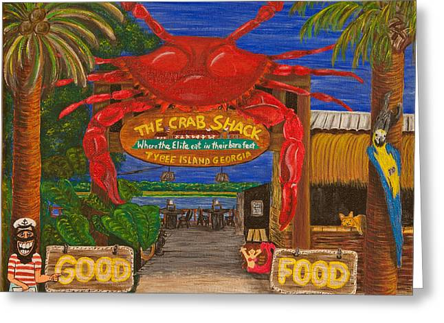 Ready For The Day At The Crab Shack Greeting Card