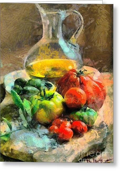 Ready For The Italian Sauce Greeting Card by Dragica  Micki Fortuna