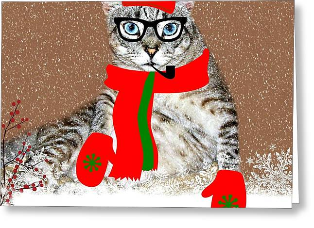 Ready For Winter Greeting Card by Barbara S Nickerson