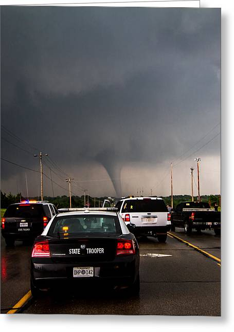 Storm Art Greeting Card featuring the photograph Ready To Respond by Sean Ramsey
