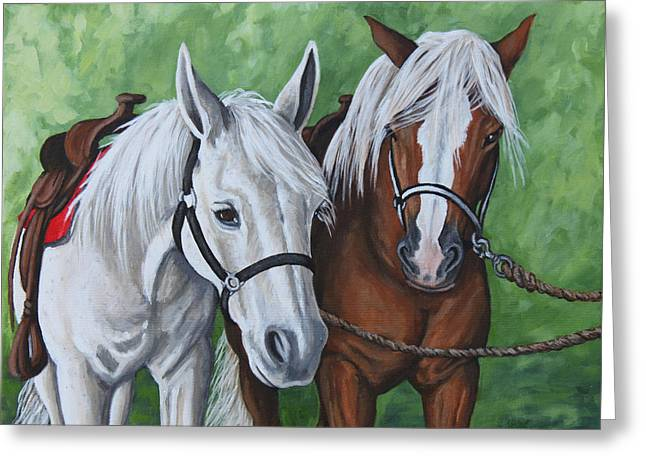 Greeting Card featuring the painting Ready To Ride by Penny Birch-Williams