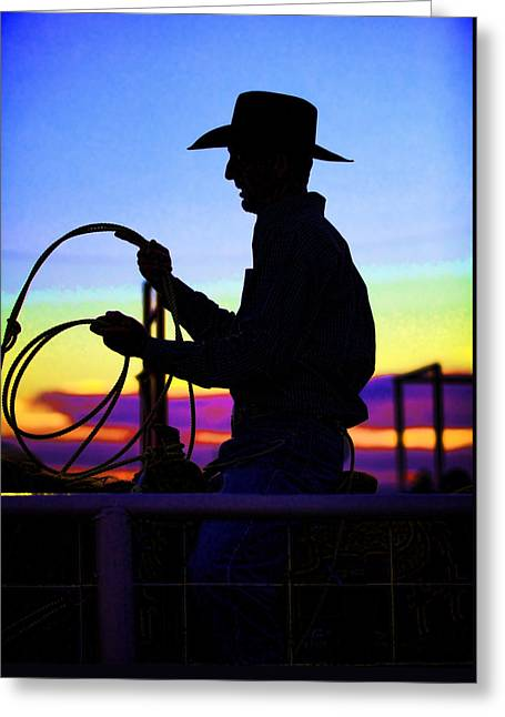 Ready To Rope I Greeting Card by Toni Hopper