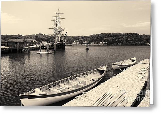 Ready To Sail Greeting Card by George Oze