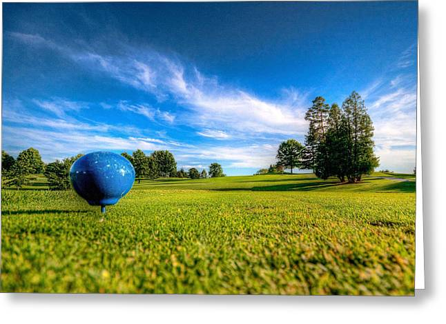Ready To Tee Off Greeting Card