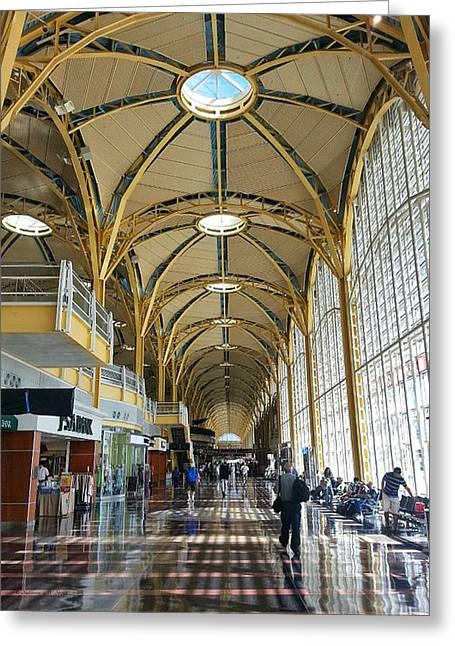 Greeting Card featuring the photograph Reagan National Airport by Suzanne Stout