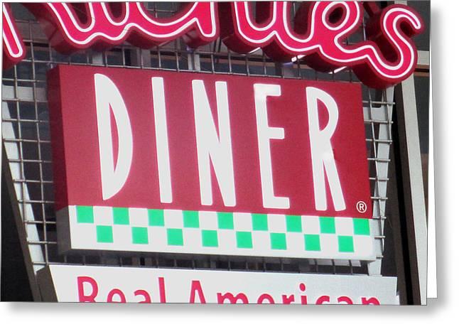 Real American Diner Greeting Card