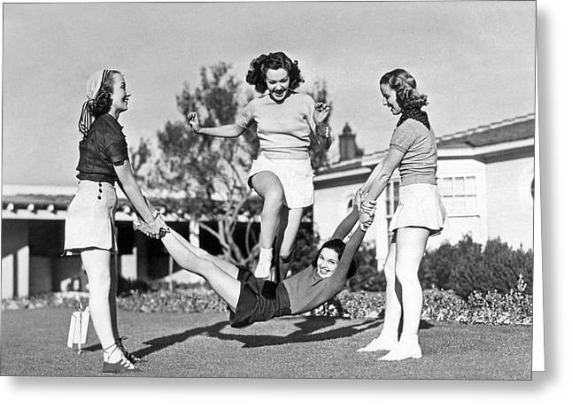 Real College Swingers Greeting Card by Underwood Archives