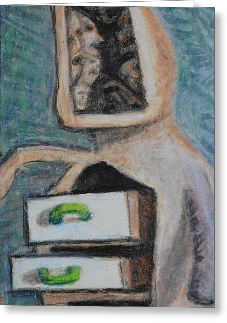 Real Drawer Of Information Greeting Card by Nancy Mauerman